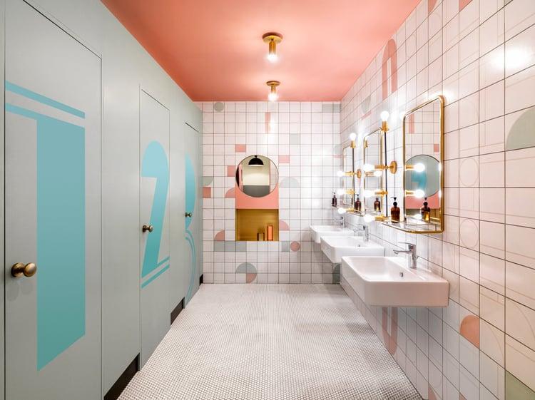 WeWork Shanghai Bathroom Pink