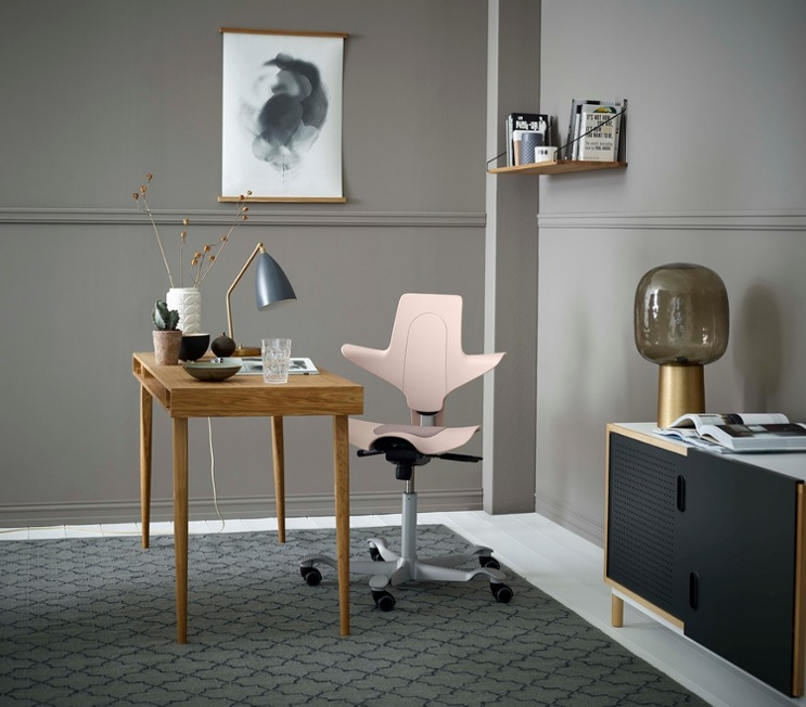 HÅG Capisco puls pink office chair value for home office interior design idea chic