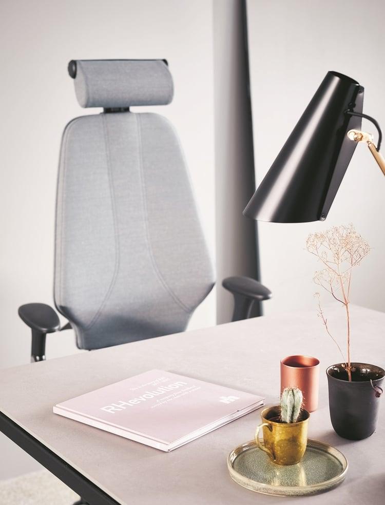 RH Logic Elegance, grey fabric