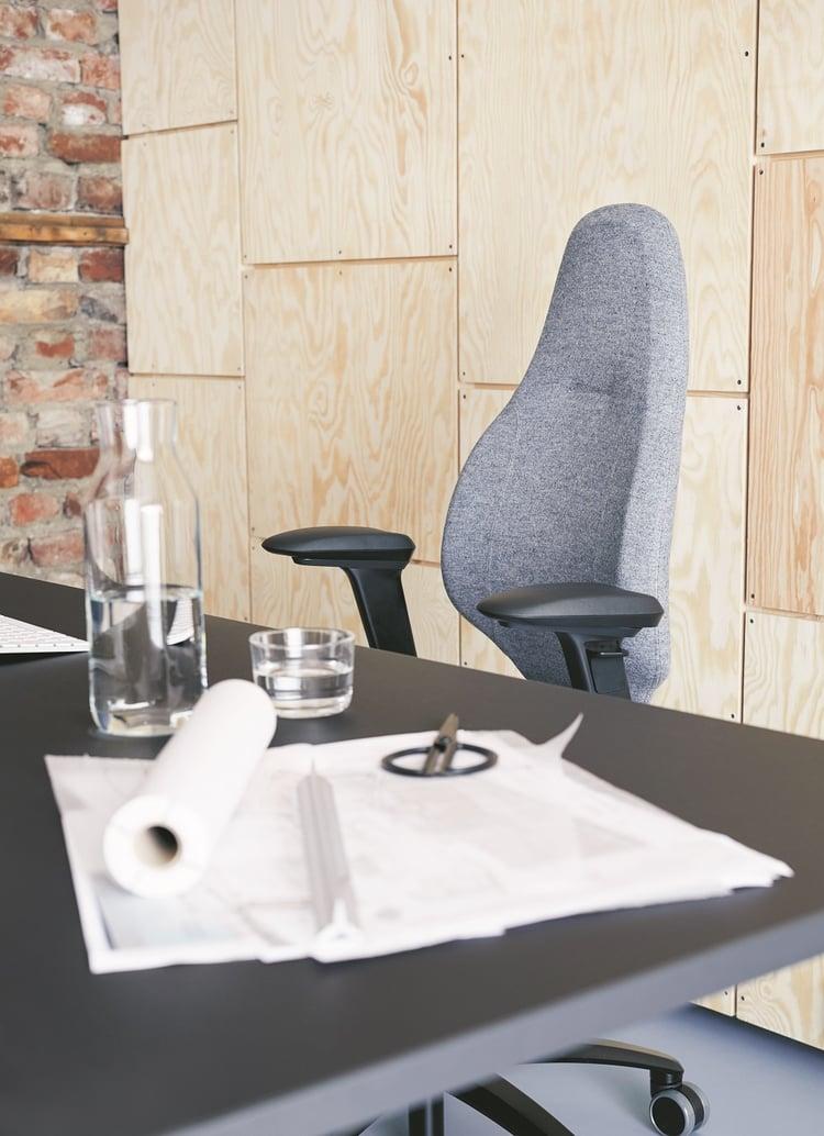 RH Mereo chair, in plush showroom
