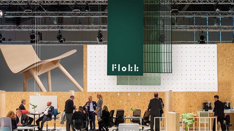 Flokk branding at Trade show