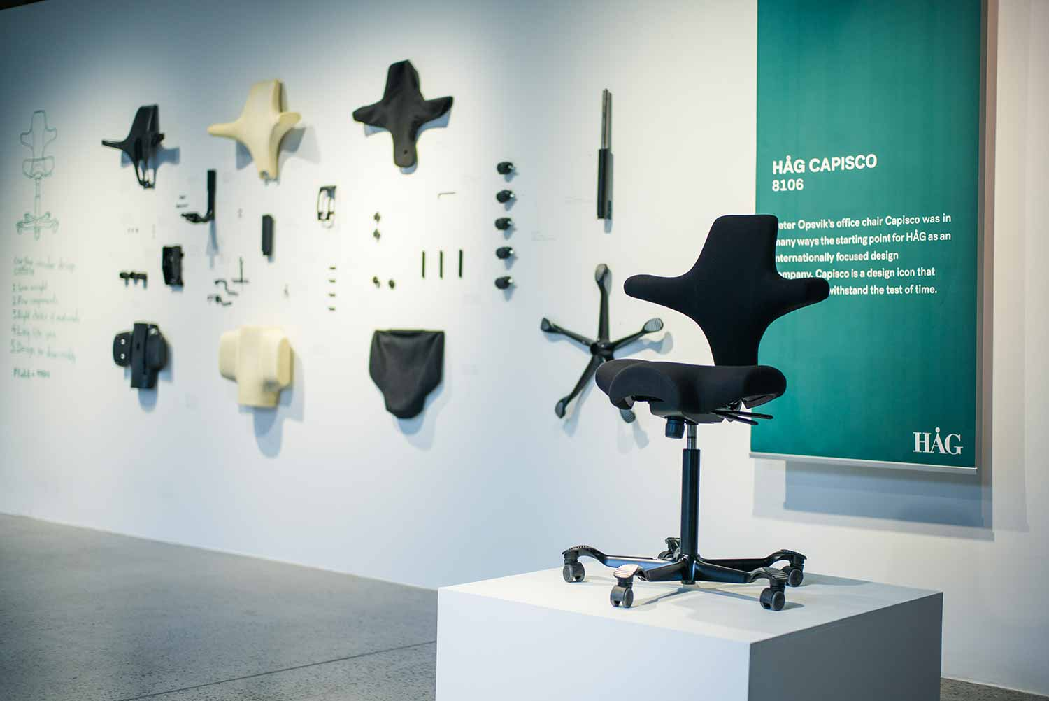 Designer Saturday oslo sustainable furniture design HÅG Capisco black desk chair environment