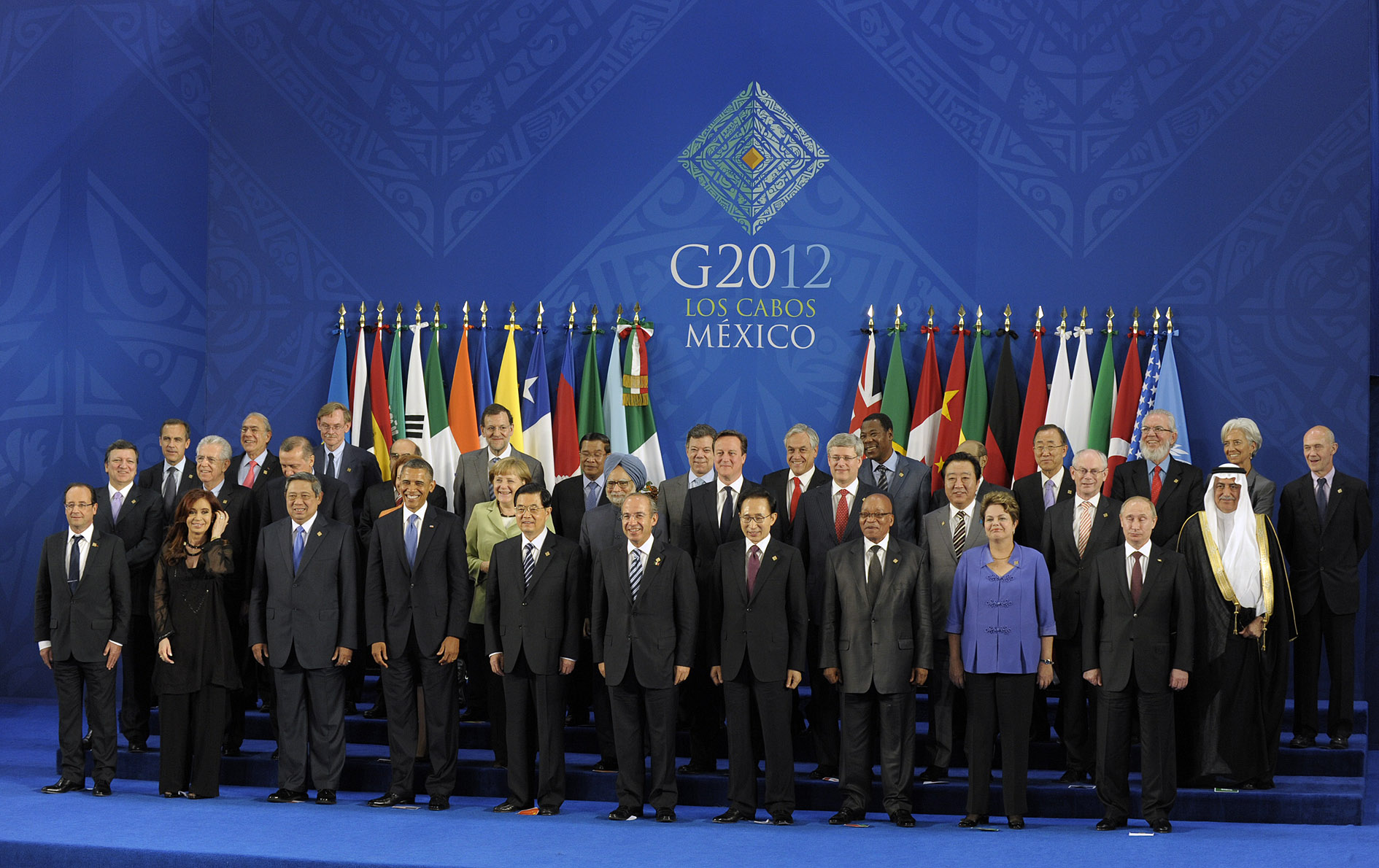 The leaders of G20, in Mexico 2012