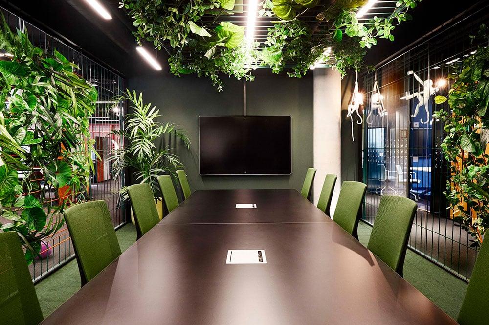 green office furniture boardroom seating hag futu mesh jungle
