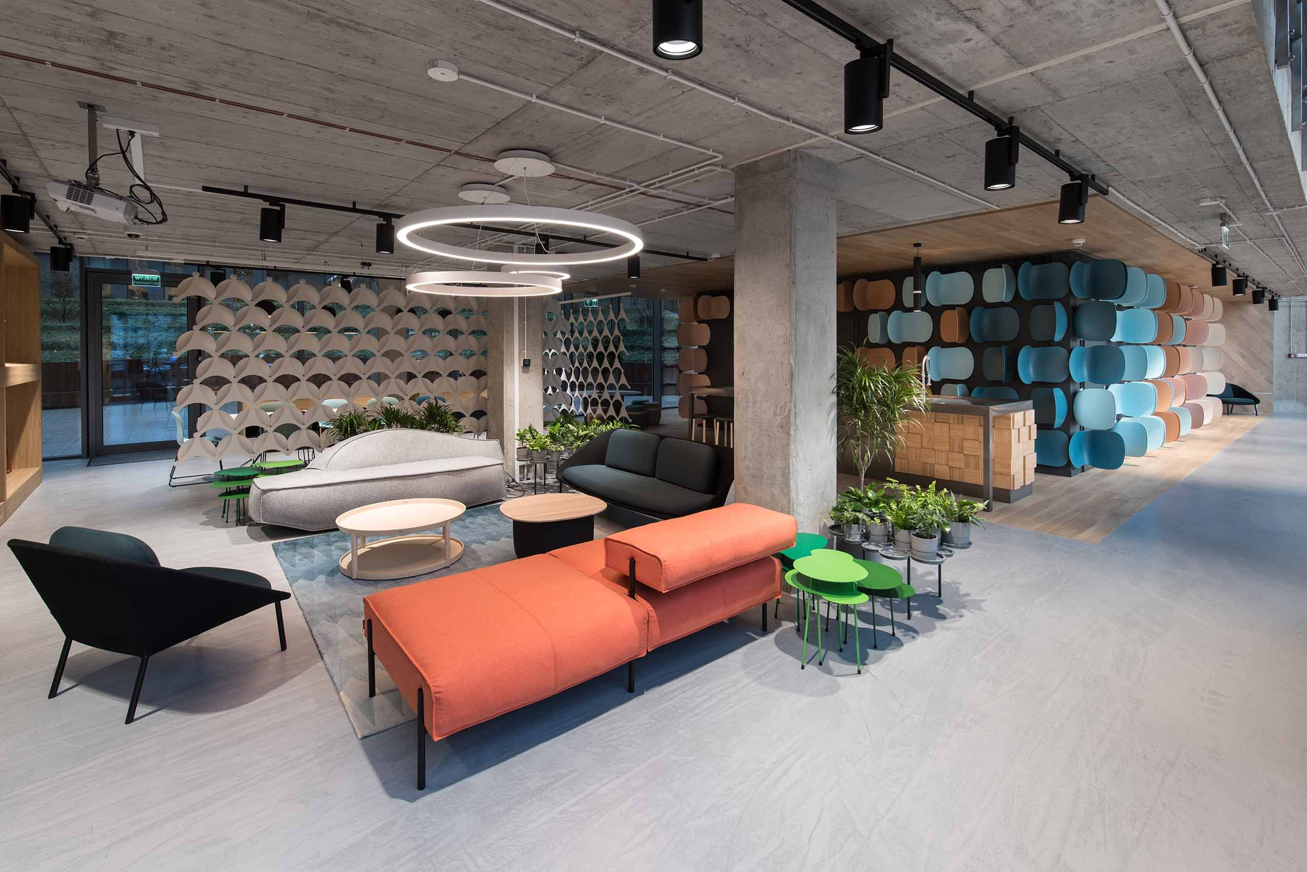 Flokk furniture showroom in poland warsaw scandinavian design led interior architecture