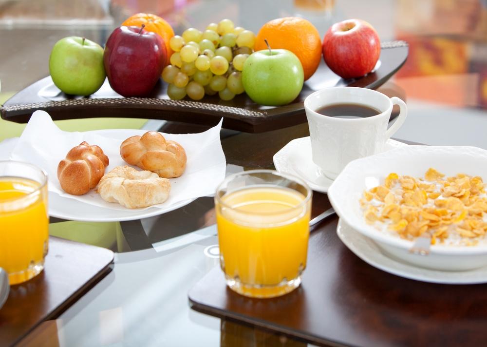 Healthy breakfast displayed on the dinning room.jpeg